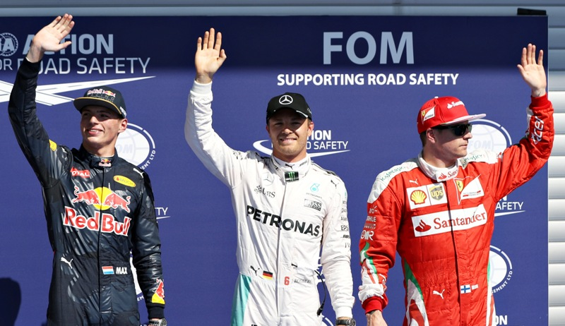 Nico rosberg claimed pole position for the belgian grand prix