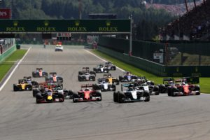 the start of the Belgian Grand prix