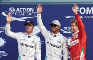 Nico Rosberg, Lewis Hamilton, Sebastian Vettel