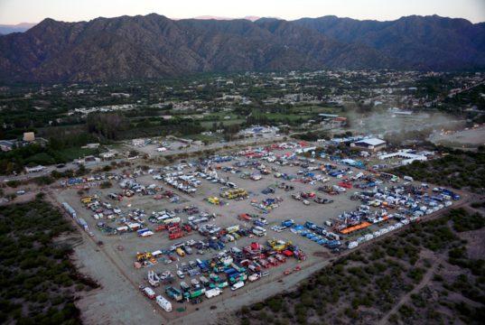 the Dakar Rally bivouac
