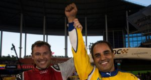 Tom Kristensen and Juan Pablo Montoya, 2017 Race of Champions, Marlins Park, Miami, ROC