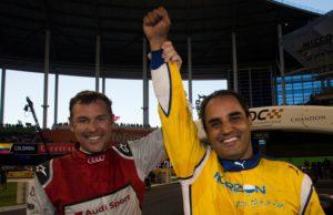 Tom Kristensen and Juan Pablo Montoya, 2017 Race of Champions, Marlins Park, Miami, ROC