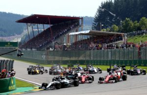 Belgian Grand prix, start, F1, FIA