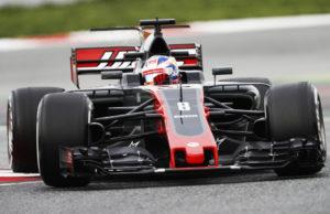 Romain Grosjean, F1 Catalunya test