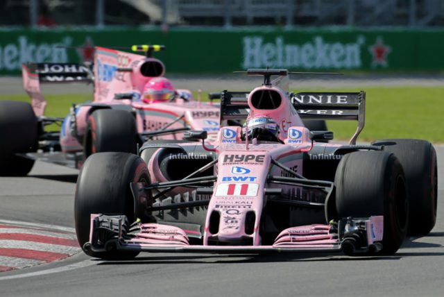 Force India, Sergio Perez, Esteban Ocon