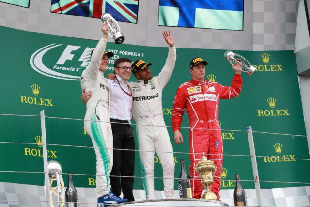 Valtteri Bottas, Lewis Hamilton, Kimi Raikkonen