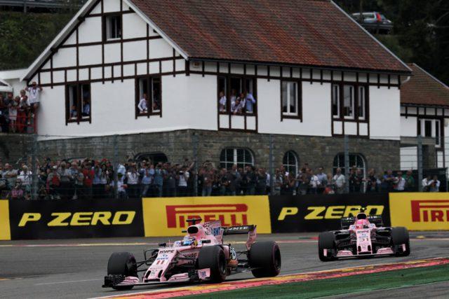 Force India, Sergio Perez, Esteban Ocon