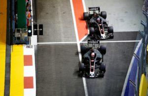 Haas, Romain Grosjean, Kevin Magnussen