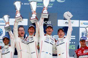 Andreas Seidl, Brendon Hartley, Mark Webber, Timo Bernhard