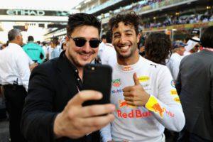 Daniel Ricciardo, Marcus Mumford, Mumford and Sons