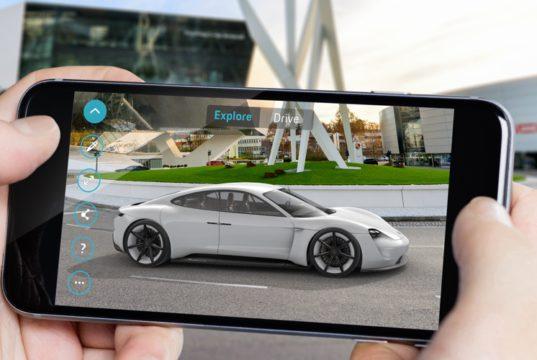 Porsche Mission E Augmented Reality