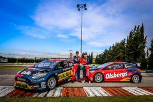 Olsbergs MSE, Kevin Eriksson, Robin Larsson,Ford Fiesta ST