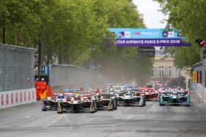 start, Jean-Eric Vergne, Sam Bird, Andre Lotterer, Maro Engel, Formula E