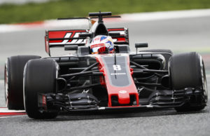 Romain Grosjean, F1 Catalunya test