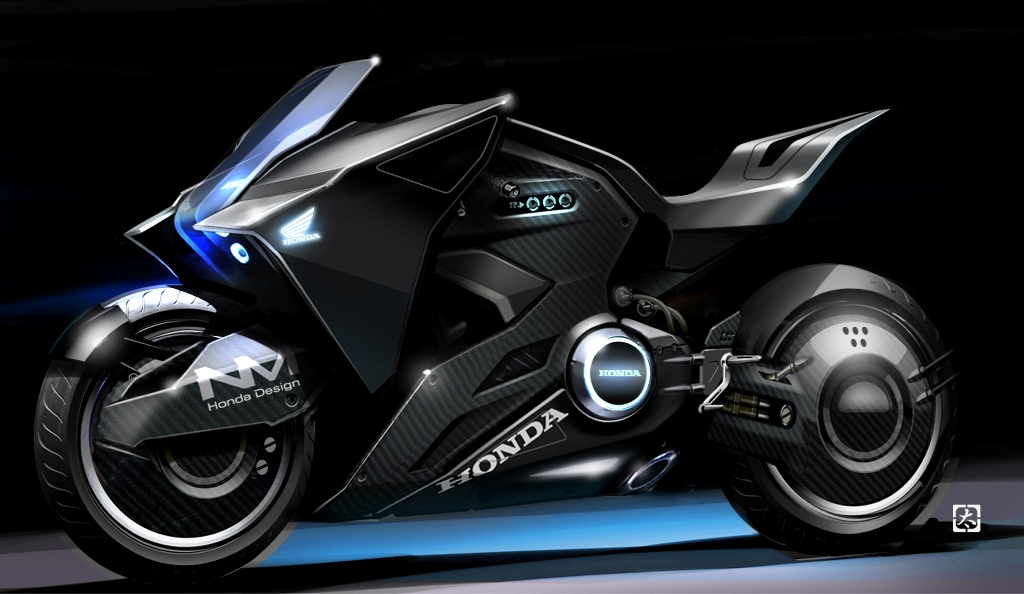 Honda futuristic motorcycle appears in Ghost in the Shell movie - News for Speed