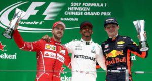 Lewis Hamilton, Sebastian Vettel, Max Verstappen