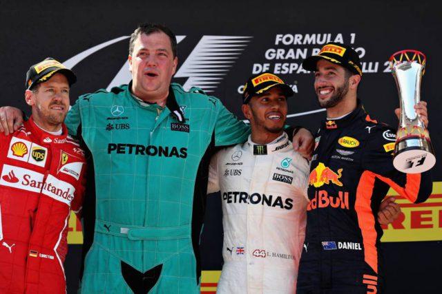 Lewis Hamilton, Sebastian Vettel, Daniel Ricciardo