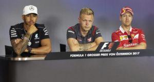 Lewis Hamilton, Kevin Magnussen, Sebastian Vettel