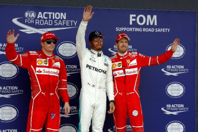 Kimi Raikkonen, Lewis Hamilton, Sebastian Vettel