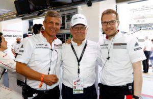 Fritz Enzinger, Wolfgang Porsche, Andreas Seidl