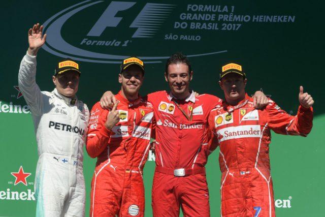Sebastian Vettel, Valtteri Bottas, Kimi Raikkonen