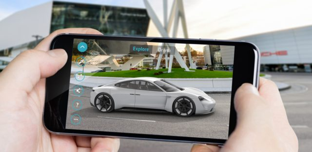 Porsche Mission E Augmented Reality