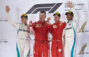 Valtteri Bottas, Sebastian Vettel, Lewis Hamilton