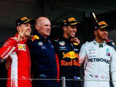 Sebastian Vettel, Lewis Hamilton, Daniel Ricciardo, Adrian Newey
