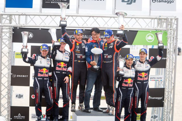 podium, Rally Portugal