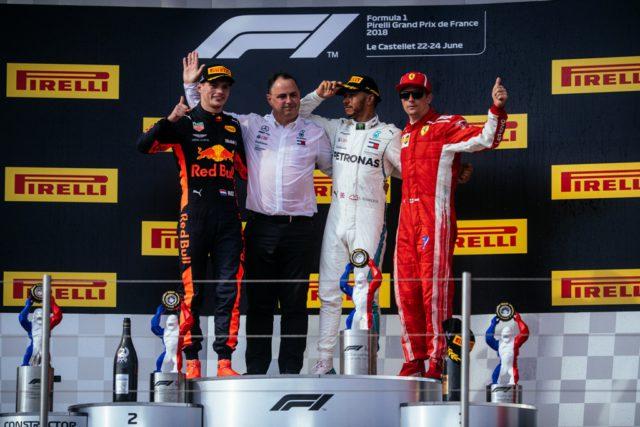 Lewis Hamilton, Max Verstappen, Kimi Raikkonen