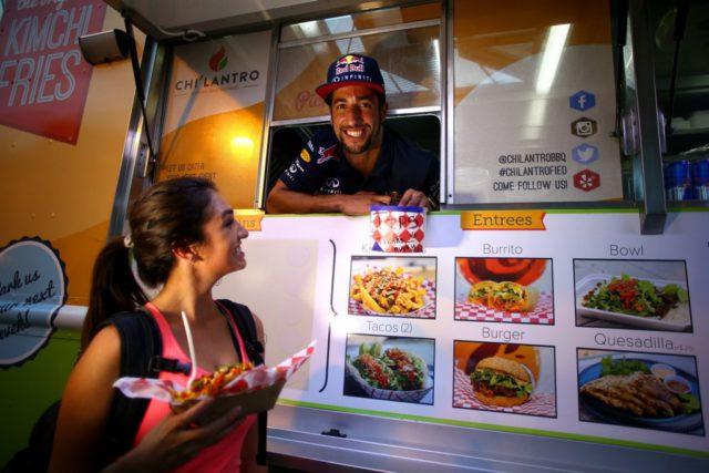 Daniel Ricciardo, food truck