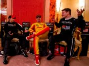 Josef Newgarden, Ryan Hunter-Reay, Helio Castroneves