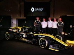 Nico Hulkenberg, Rémi Taffin, Cyril Abiteboul, Nick Chester, Daniel Ricciardo