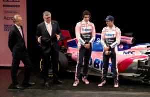 Andrew Green, Otmar Szafnauer, Lance Stroll, Sergio Perez