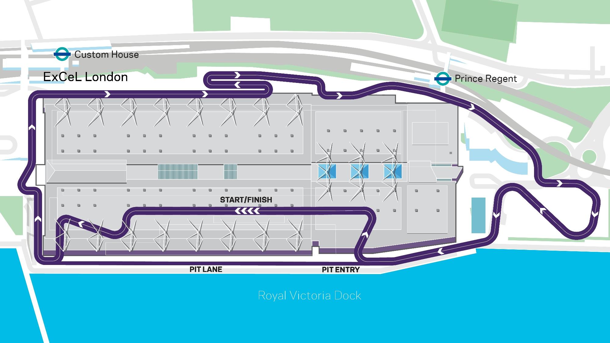 Formula E London circuit